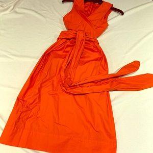 🍊J Crew sleeveless wrap dress low cut size 4 🍊